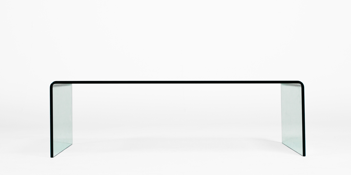 "43.25""w x 23.75""d Glass Coffee Table TBL012649"