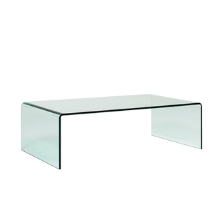 "43.25""w x 23.75""d Glass Coffee Table TBL012649"