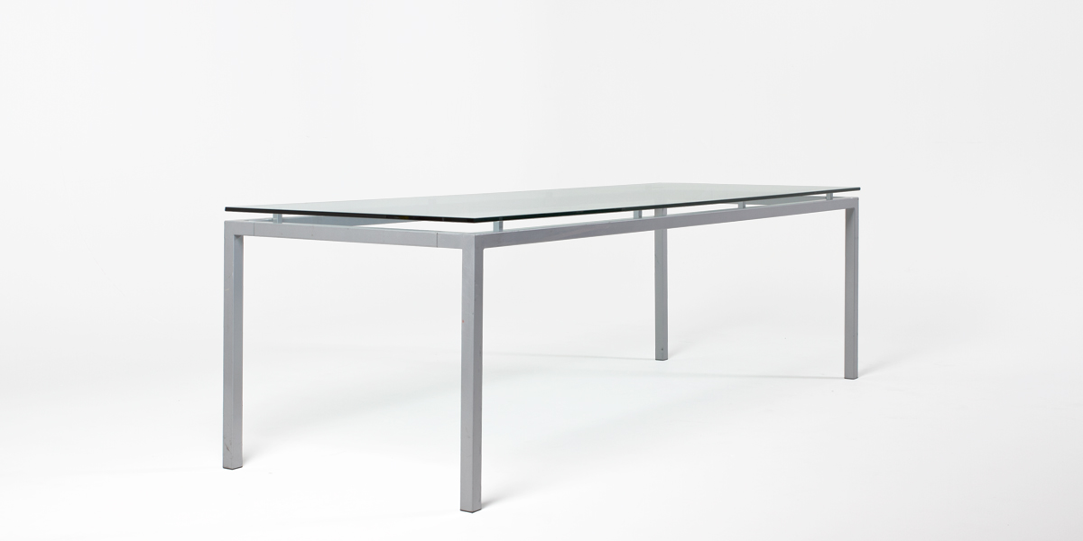 "98.5""w x 35.5""d Glass Table TBL012663"