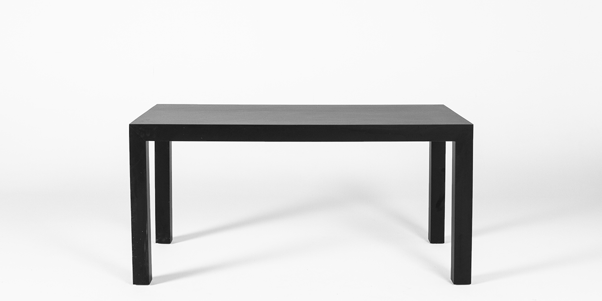 "60""w x 30""d Matte Black Laminate Table Desk TBL013237"