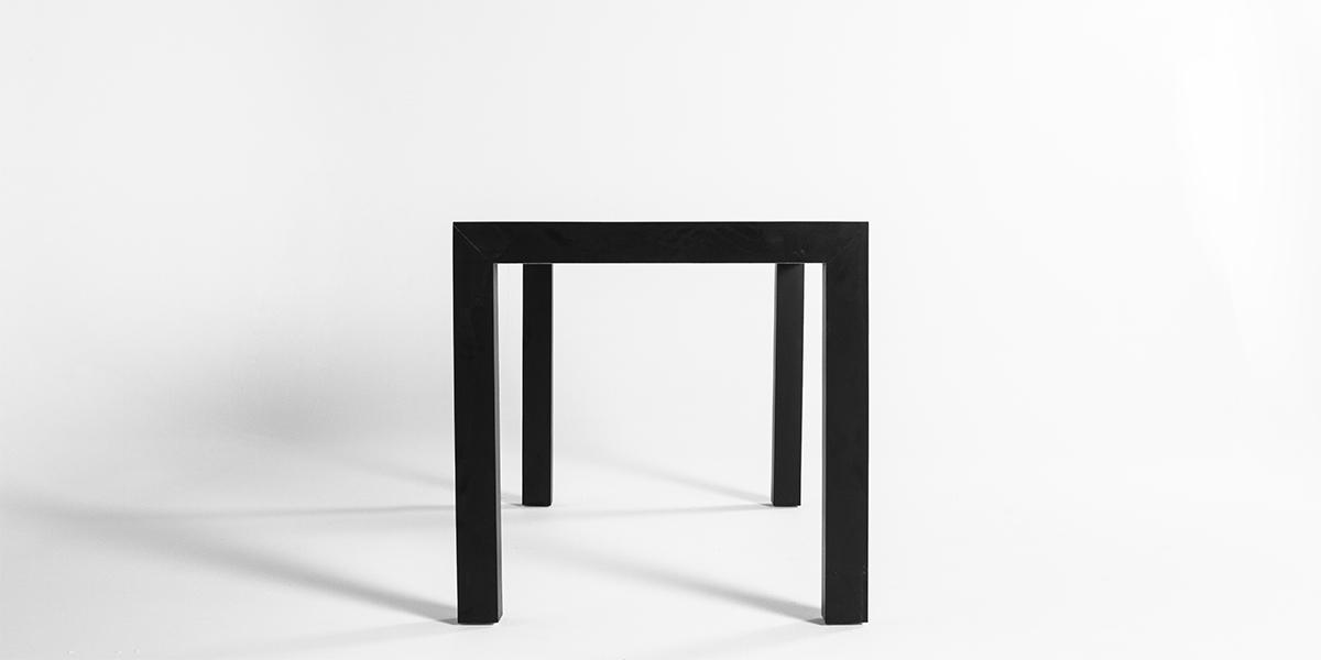 "60""w x 30""d Matte Black Laminate Table Desk TBL013237"