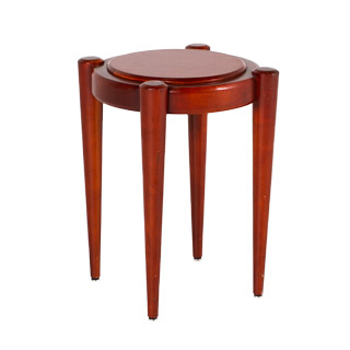 "19""dia Medium Cherry Round End Table TBL013353"