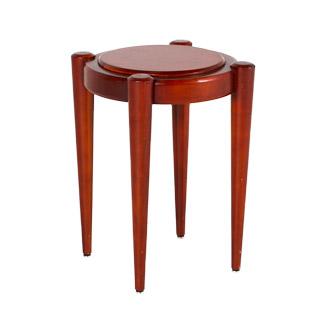 "19""dia Medium Cherry Round End Table TBL013353"