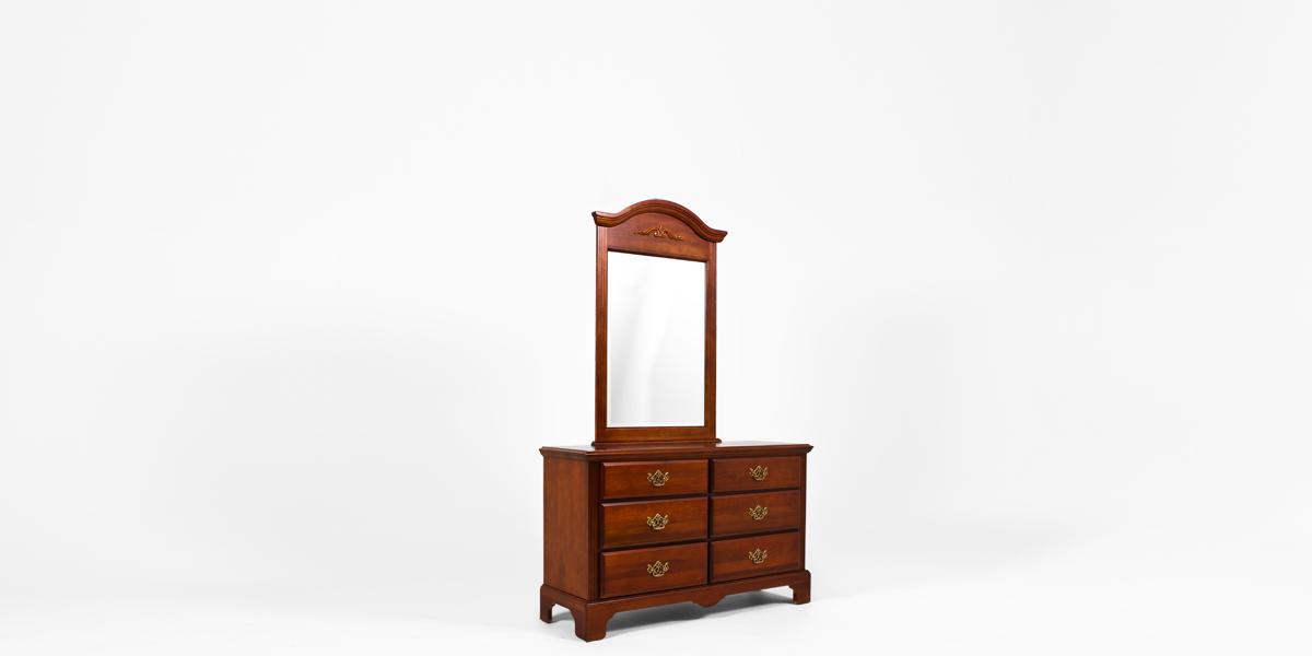 """51.25""""w x 17.25""""d Mahogany Dresser BED013299"""