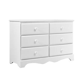"""48""""w x 17.25""""d White Dresser BED013301"""