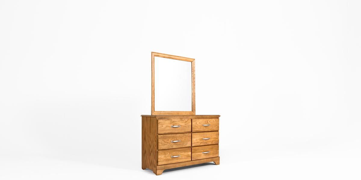 "48""w x 17.25""d Oak Dresser BED013326"