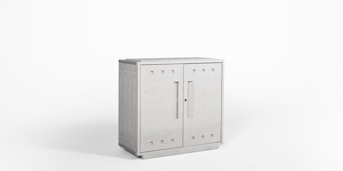"36""w x 16""d Platinum Grey Storage Cabinet CAB012490"