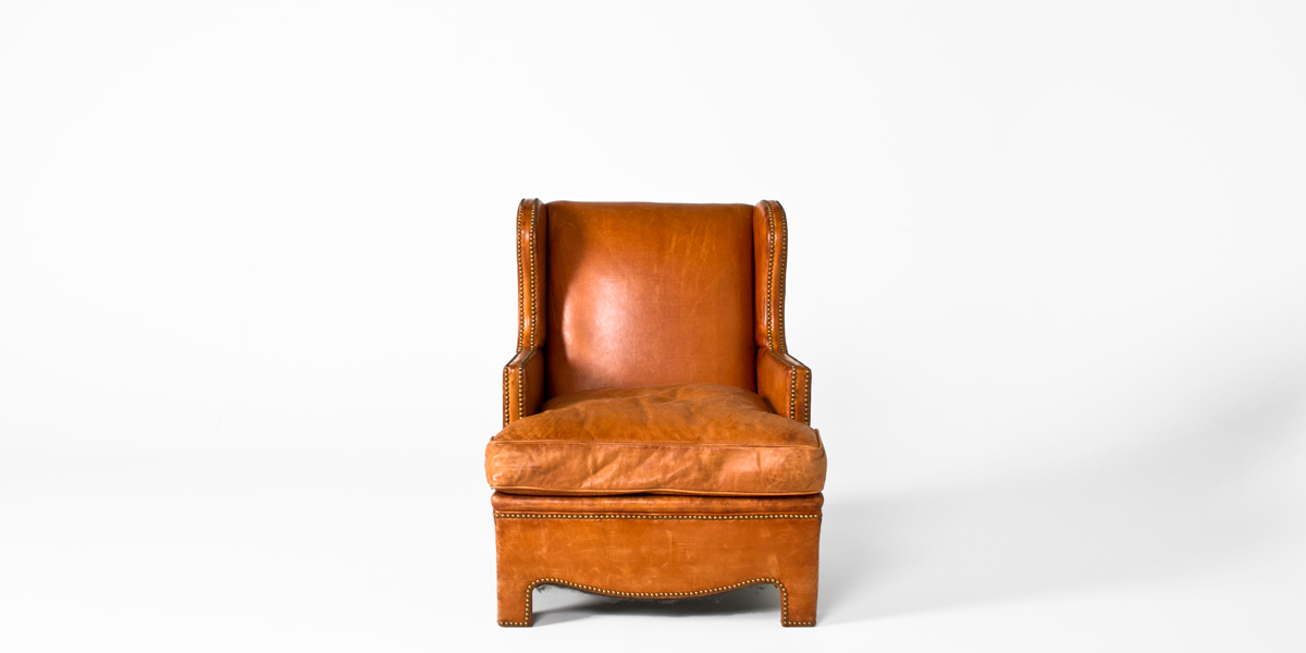 Tan Leather Club Chair CHR000498