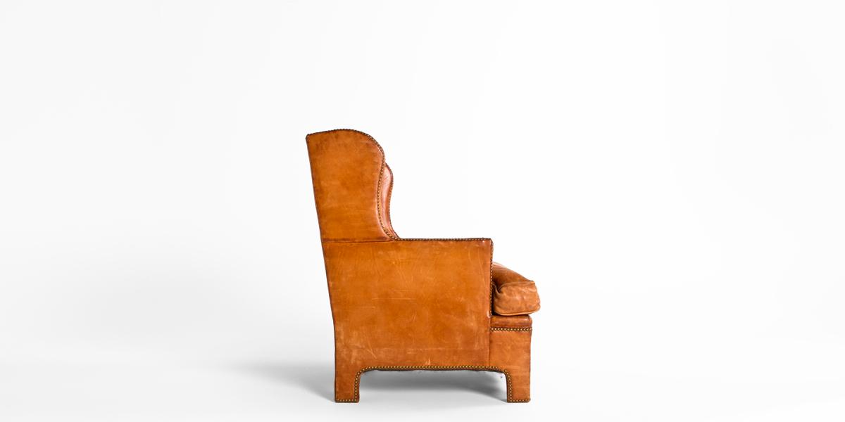 Tan Leather Club Chair CHR000498