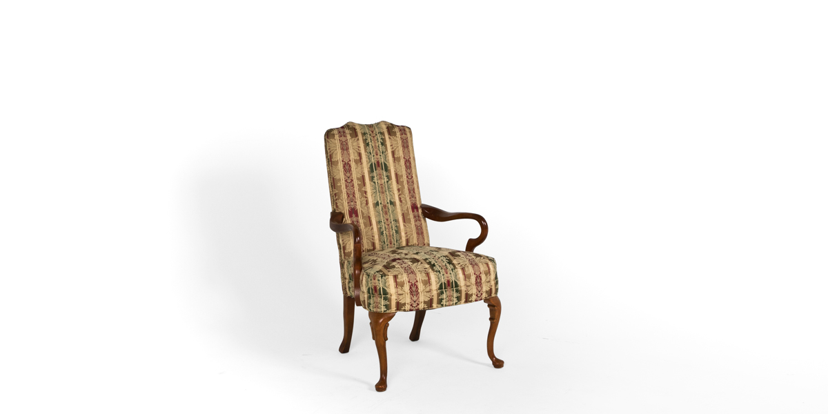 Striped Floral Guest Chair CHR000821