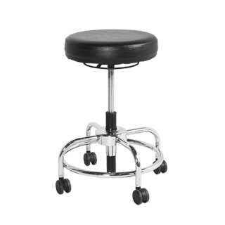Black Vinyl Backless Task Stool CHR012933