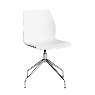 White Poly Shell Side Chair CHR013153