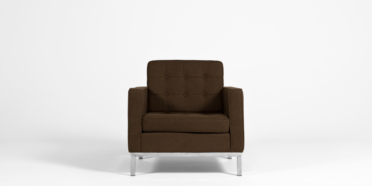 Brown Fabric Lounge Chair CHR013223