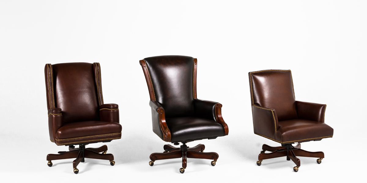 Brown Leather Executive Hi-Back Office Chair CHR013264