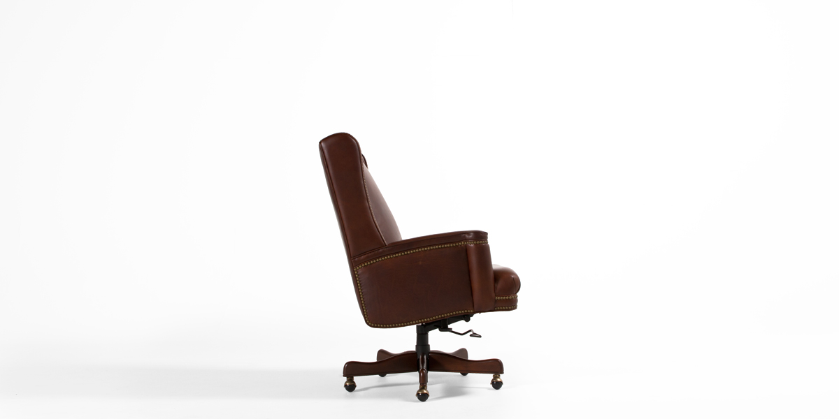 Brown Leather Executive Hi-Back Office Chair CHR013263