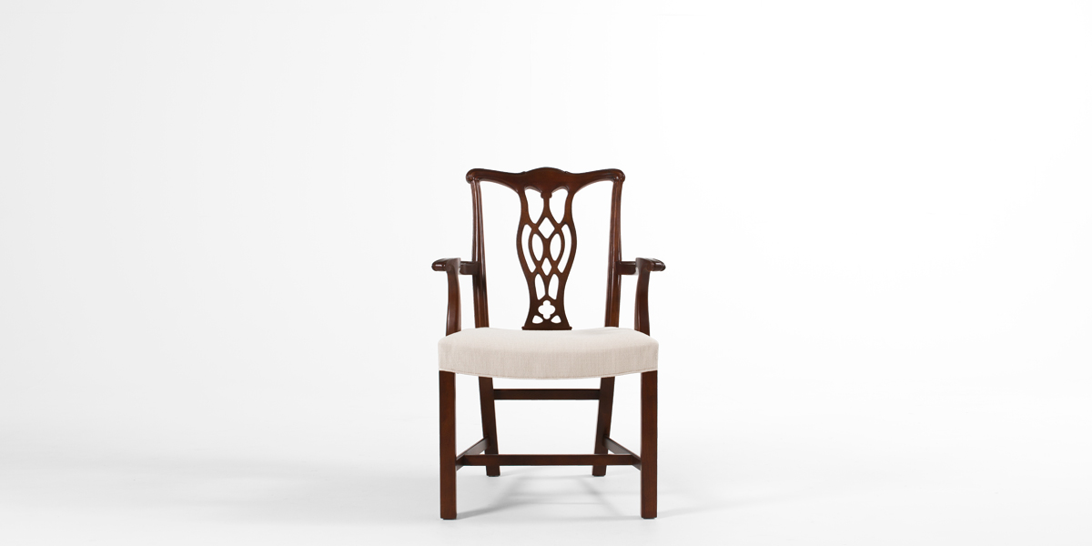 Mahogany Chippendale Guest Chair CHR013288
