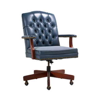 Light Blue Vinyl Executive Mid-Back Office Chair CHR013291