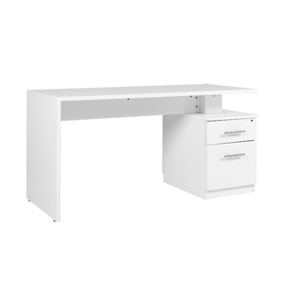 "59""w x 23.5""d White Laminate Desk DSK013347"
