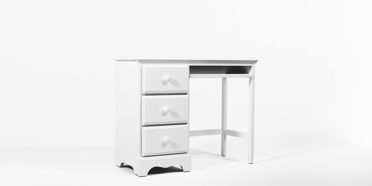 """40""""w x 17.25""""d White Student Desk DSK013350"""