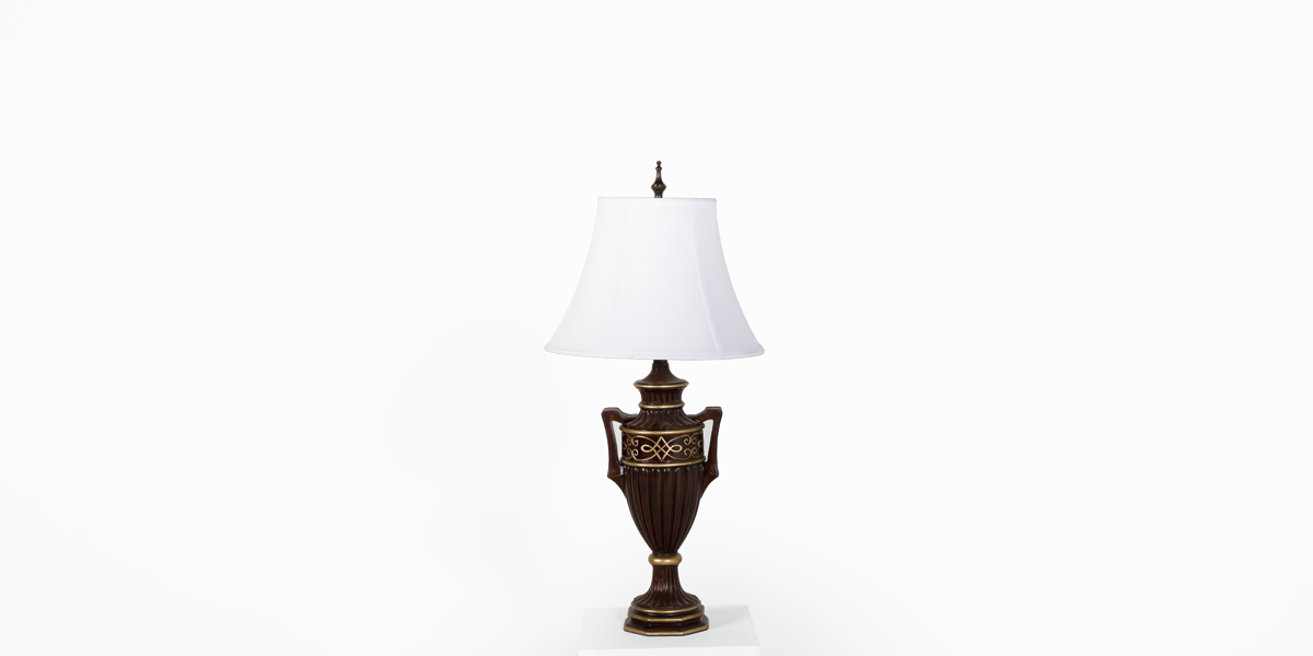 "29""h Brushed Brown Table Lamp LGT011397"