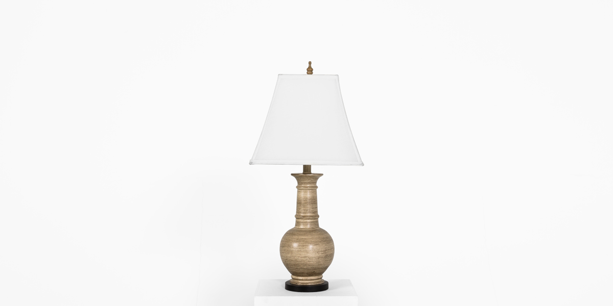 "27""h Beige Ceramic Table Lamp LGT012392"