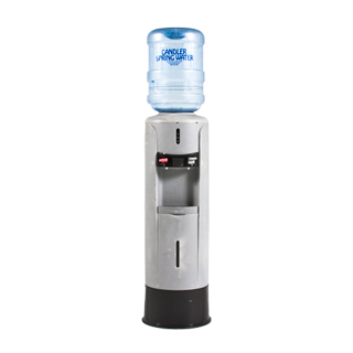 "12.5""dia x 53""h Grey Water Cooler MIS011900"