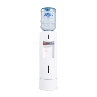 "12.75""dia x 52""h White Water Cooler MIS012424"