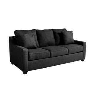 "81""w x 38""d Charcoal Fabric Sofa SOF013272"