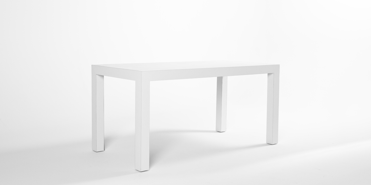 "60""w x 30""d Matte White Laminate Table Desk TBL013238"