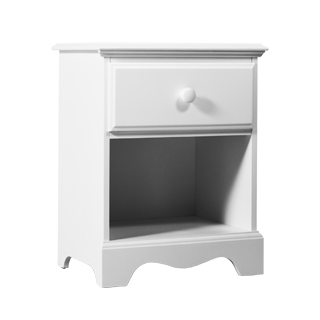 "21""w x 16""d White Nightstand TBL013295"