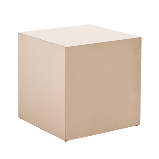 "18""w x 18""d Beige Laminate Cube Side Table TBL013342"