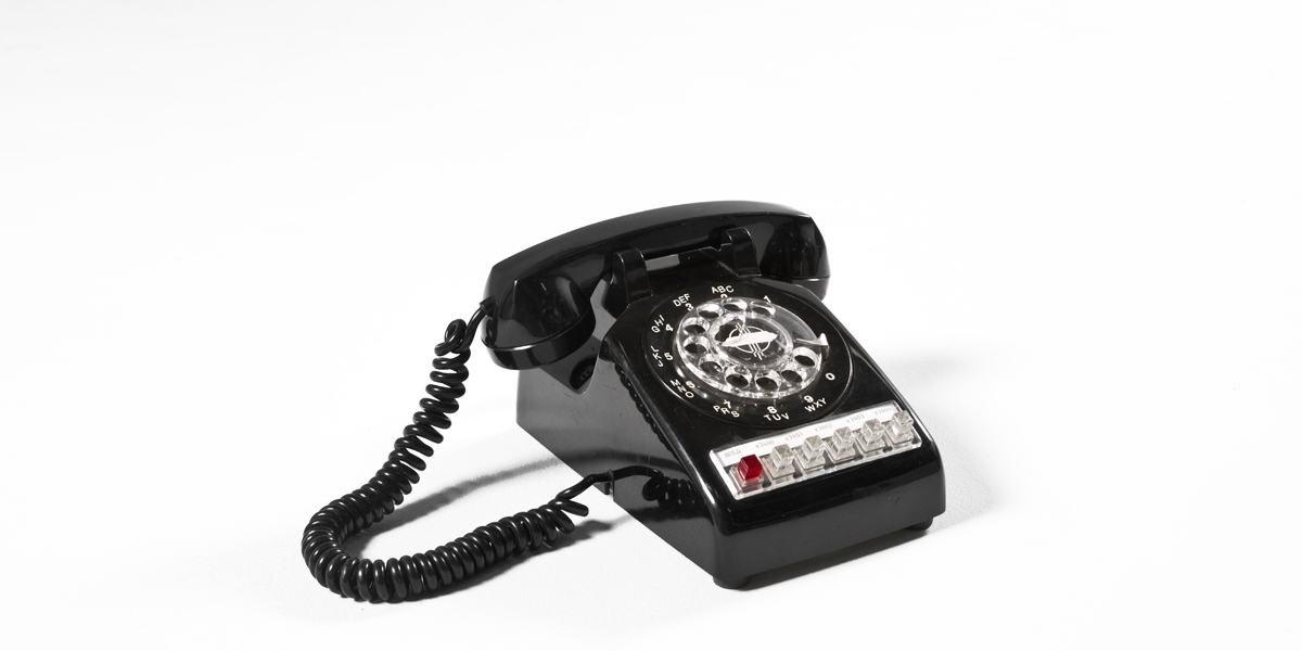 "9""w x 9.5""d Black Telephone ACC000118"
