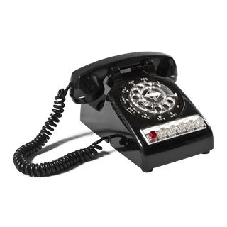 "9""w x 9.5""d Black Telephone ACC000118"