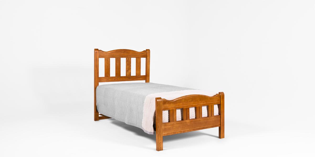 """41.5""""d x 80""""d Medium Oak Twin Bed BED013314"""