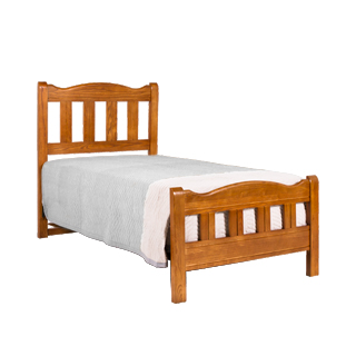 "41.5""d x 80""d Medium Oak Twin Bed BED013314"