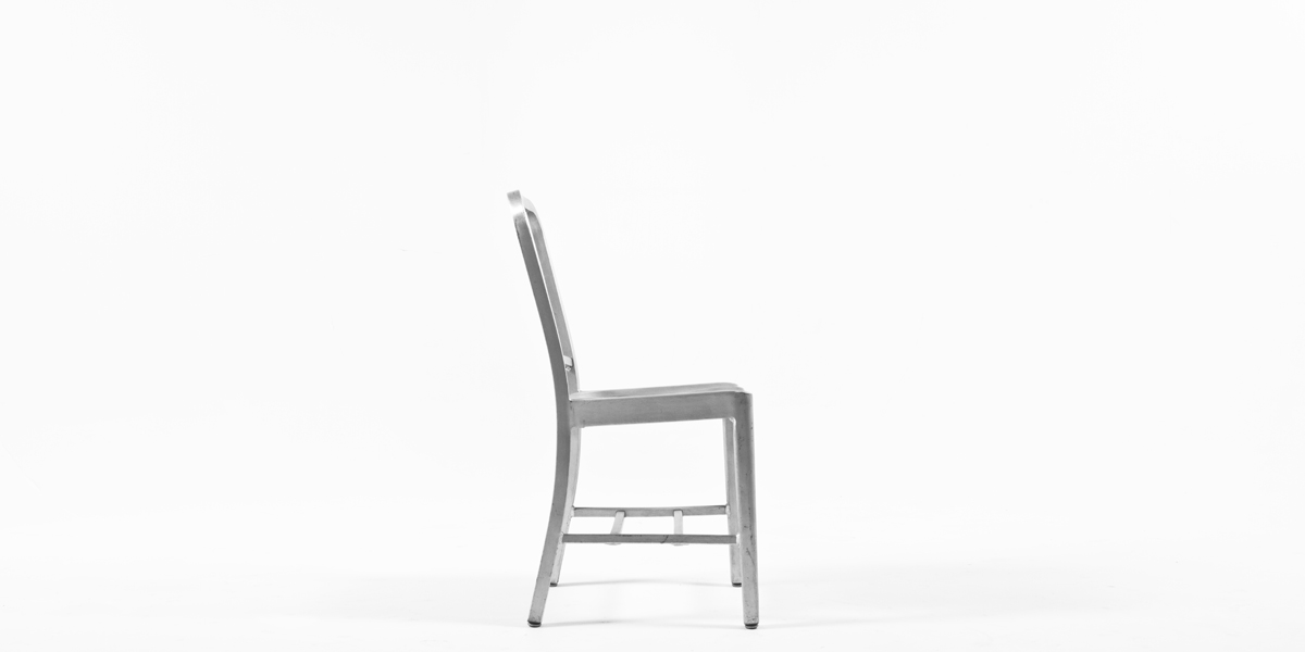 Aluminum Navy Side Chair CHR000622
