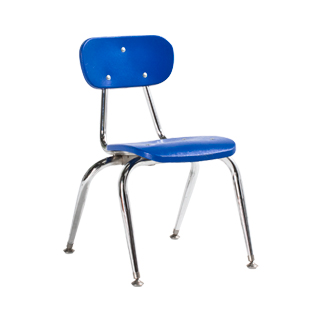 Blue Children's Stack Chair CHR006515
