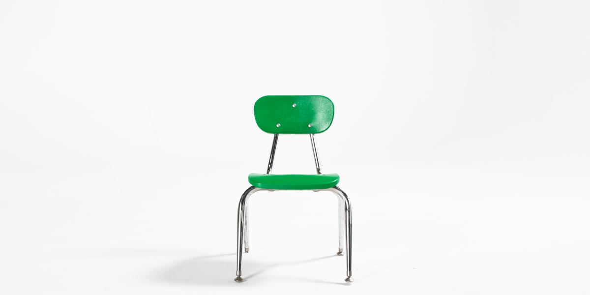 Green Children's Stack Chair CHR006517