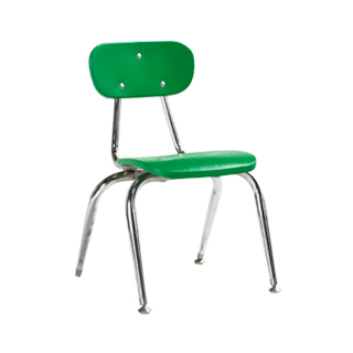 Green Children's Stack Chair CHR006517