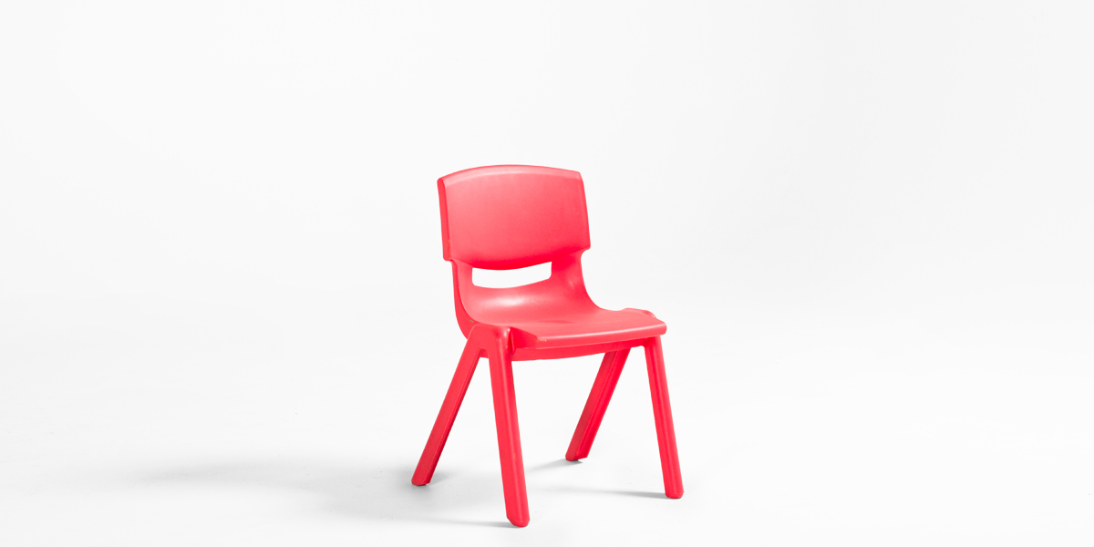 Red Resin Children's Stack Chair CHR013089