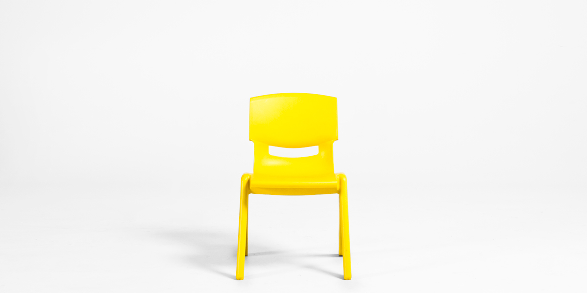 Yellow Resin Children's Stack Chair CHR013090