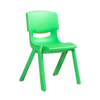 Green Resin Children's Stack Chair CHR013091