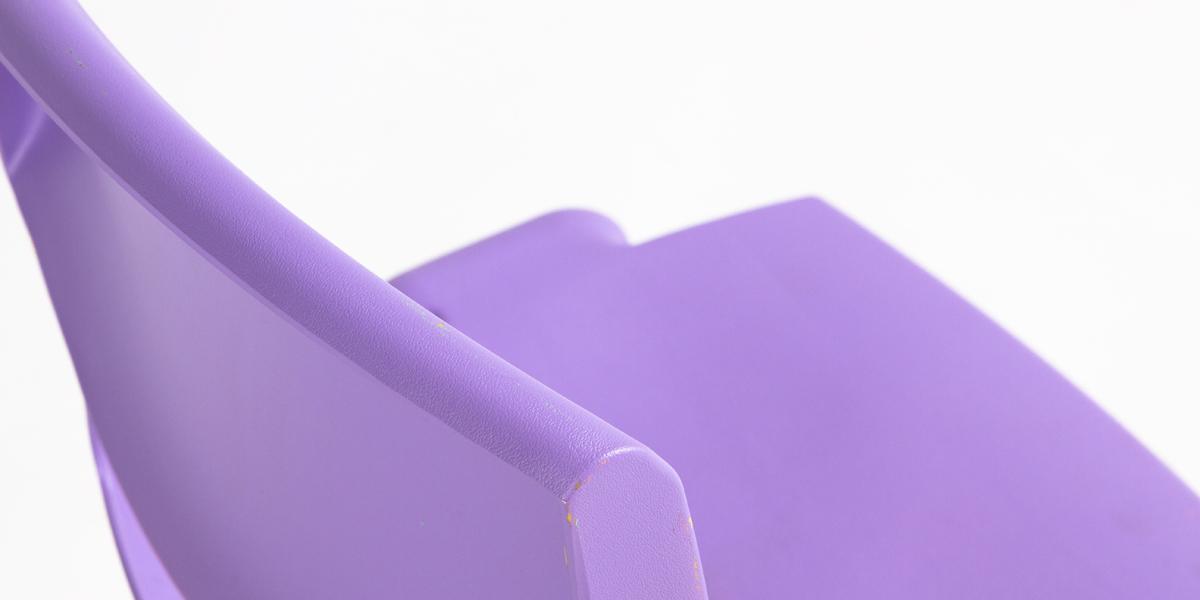 Lavender Resin Children's Stack Chair CHR013092