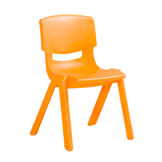 Orange Resin Children's Stack Chair CHR013093