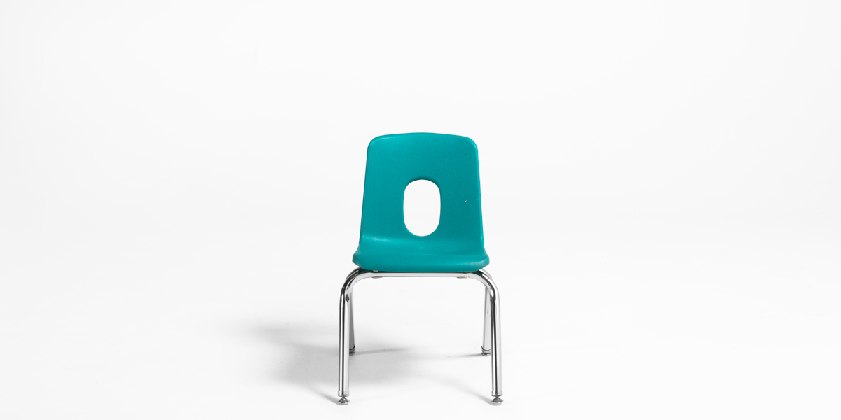 Turquoise Poly Shel Children's Stack Chair CHR013096