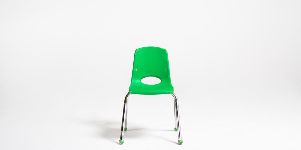 Green Plastic Children's Stack Chair CHR013098