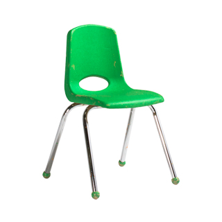 Green Plastic Children's Stack Chair CHR013098
