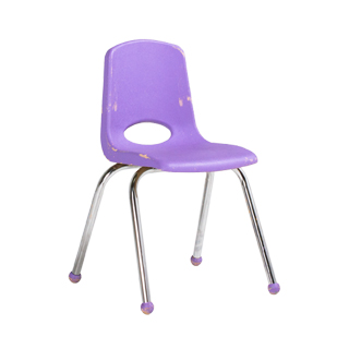 Lavender plastic children 39 s stack chair chr013101 for Kids tv chair