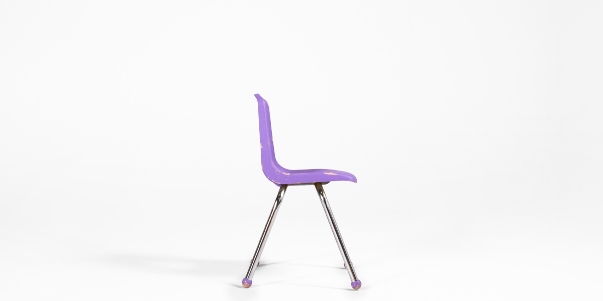 Lavender Plastic Children's Stack Chair CHR013101