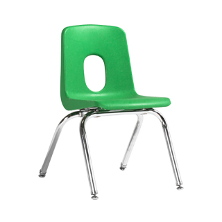 Green Poly Shel Children's Stack Chair CHR013358